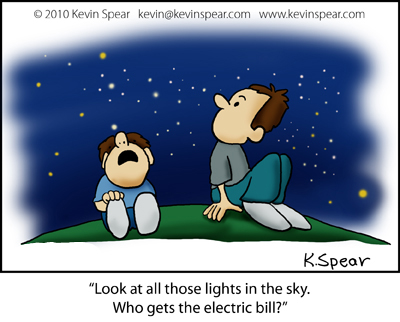 They are gazing at the stars.