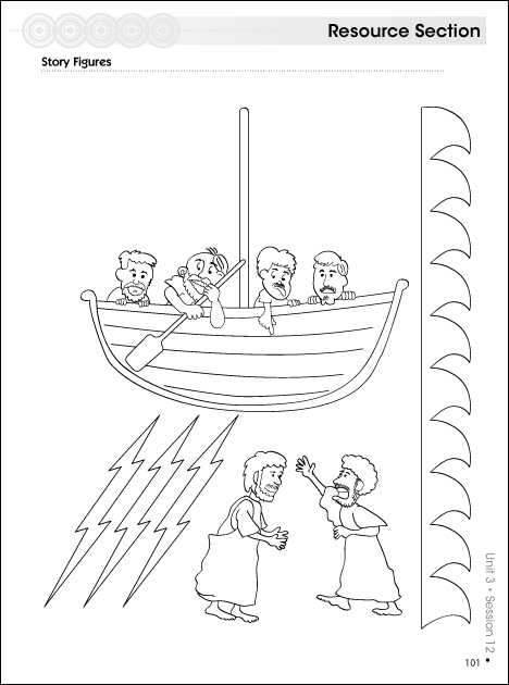 Story Figures Jesus Calms the Storm  Kevin H Spear