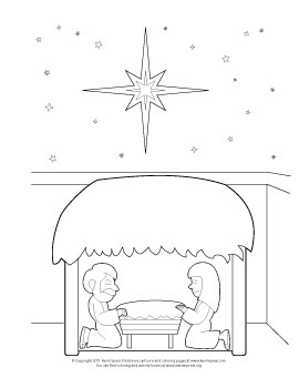 Spear 3839 Coloring Page: Nativity