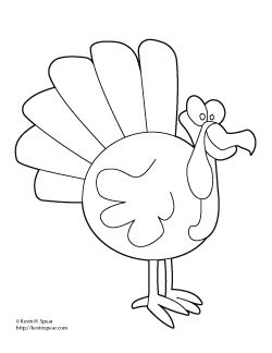 Image Result For Cartton Turkey Coloring