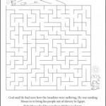 MosesEgypt Maze 231x300 150x150 Coloring Page: Moses and the Burning Bush