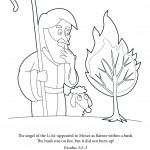 Moses BurningBush 150x150 Coloring Page: Nativity