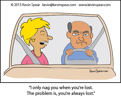 3903 driver nag Cartoon: Nagging Driver
