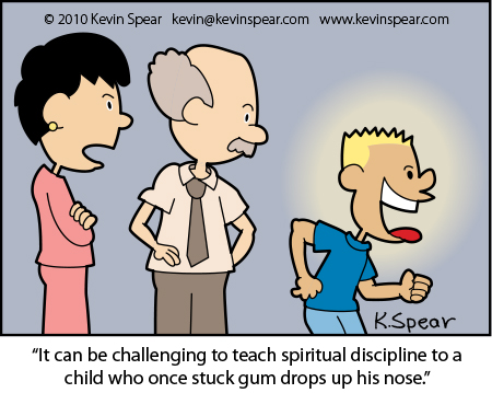 Spear 3743 Cartoon: Discipline and Gumdrops