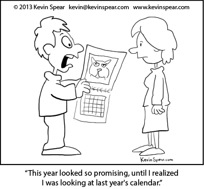 Spear so promising Cartoon: Promising New Year