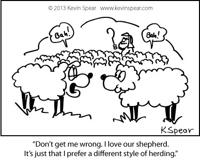 Spear 1022 Cartoon: Different Kind of Shepherd