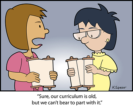 Spear 3847 Cartoon: Old Curriculum