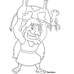 3935 Spear Samson Coloring 150x150 Coloring Page: Nativity