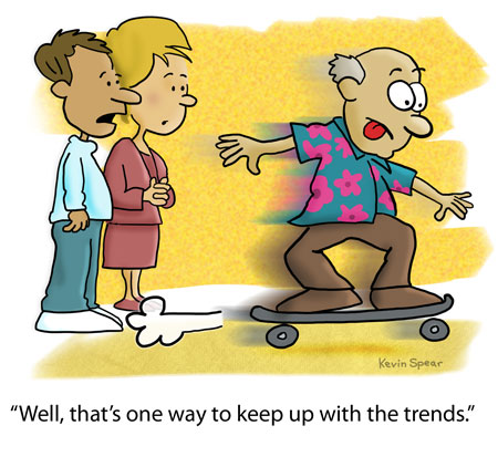 Spear 3897 How to keep up with the trends cartoon